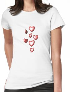 Unbreakable hearts red Womens Fitted T-Shirt