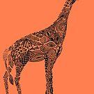 Designer Giraffe Coral by SuburbanBirdDesigns By Kanika Mathur