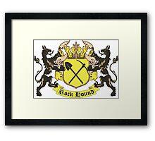 Rockhound Coat of Arms Framed Print