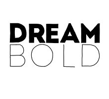 Dream Bold Pillow by dudewithhair
