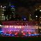 A night shot of a Melbourne fountain