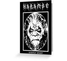 Black Metal Harambe Greeting Card