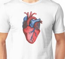 Anatomical Hand Painted Watercolor Heart Unisex T-Shirt