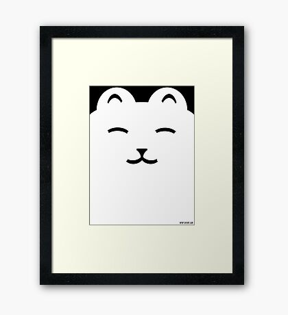 Happy cat happy bear Framed Print