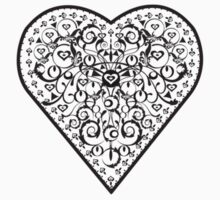 Ironwork heart black Baby Tee