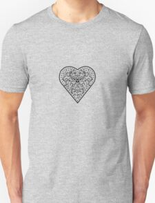 Ironwork heart black Unisex T-Shirt