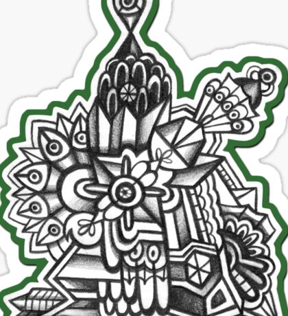 Abstract Dimensions (Black and White) Design 004 Sticker
