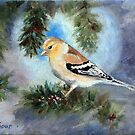 Goldfinch In A Tree by Brenda Thour