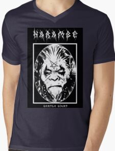 Black Metal Harambe Mens V-Neck T-Shirt