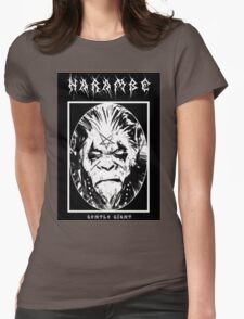 Black Metal Harambe Womens Fitted T-Shirt