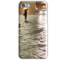 Taxi on a Rainy Night in Perugia, Italy iPhone Case/Skin