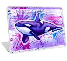 Watercolor Orca Laptop Skin
