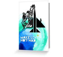 Make Love Not War Plane Greeting Card