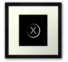 X Files, Grey Framed Print
