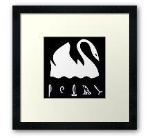 Swan Hieroglyphics (LOST TV Show) Framed Print