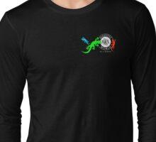 Gekkos in 3 Farben-Glücksymbol auf schwarzen Hintergrund-Majestic World - Design von M. A. MARTIN  Long Sleeve T-Shirt