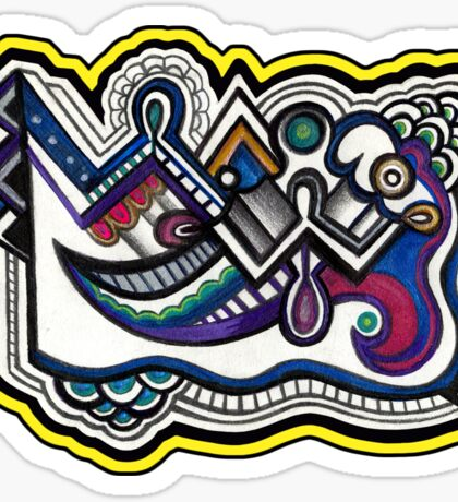 Abstract Dimensions (Color) Design 005 Sticker