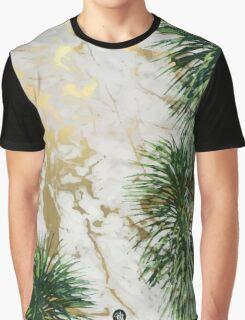 Marble and palm trees Graphic T-Shirt