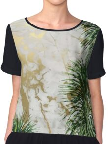 Marble and palm trees Chiffon Top