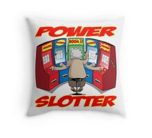 POWER SLOTTER CRAZY CASINO GRANDMA Throw Pillow