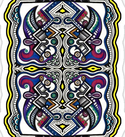 SYMMETRY - Design 005 (Color) Sticker