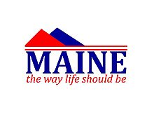 Maine, The Way Life Should Be Photographic Print