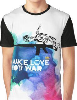 Make Love Not War M16 Graphic T-Shirt