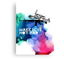 Make Love Not War M16 Canvas Print