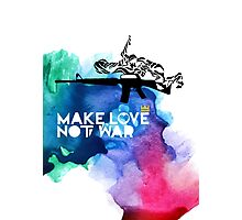 Make Love Not War M16 Photographic Print