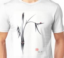 """Gentle Soul"" Chinese japanese ink brush pen painting Unisex T-Shirt"