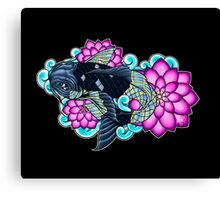Koi With Lotus Scales Canvas Print