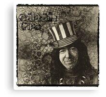 """Jerry Garcia """"Captain Trips"""" Grateful Dead Shirt Canvas Print"""
