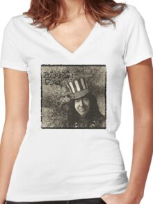 "Jerry Garcia ""Captain Trips"" Grateful Dead Shirt Women's Fitted V-Neck T-Shirt"