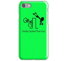 "MTB Cycling Crash ""Styled That Out"" Cartoon iPhone Case/Skin"