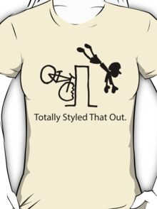 "MTB Cycling Crash ""Styled That Out"" Cartoon T-Shirt"
