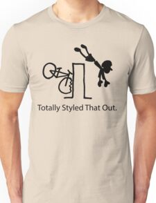 "MTB Cycling Crash ""Styled That Out"" Cartoon Unisex T-Shirt"