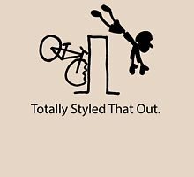 "MTB Cycling Crash ""Styled That Out"" Cartoon Womens Fitted T-Shirt"