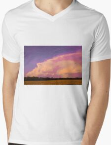 Neon Sky Mens V-Neck T-Shirt