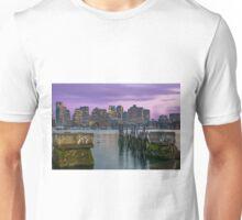 Boston Harbor at sunset. Unisex T-Shirt
