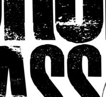 Drop Bass Not Grenades (black/red) Sticker