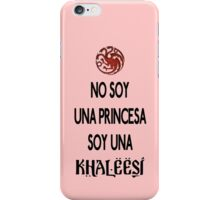 No soy princesa iPhone Case/Skin