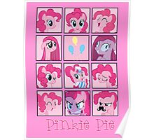Faces of Pinkie Pie Poster
