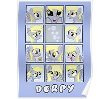 Faces of Derpy Poster