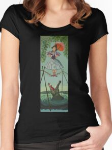 Haunted Mansion Tightrope Girl  Women's Fitted Scoop T-Shirt