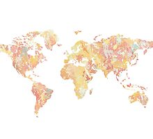 colorful world map by AnnaGo
