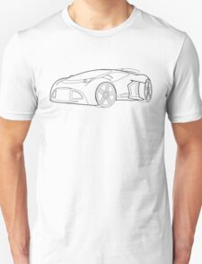 Future Wheels wire frame design Unisex T-Shirt