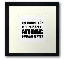 Avoiding Software Updates Framed Print