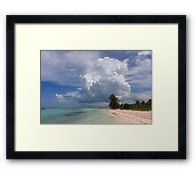 Cayo Guillermo beach Framed Print
