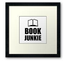 Book Junkie Framed Print