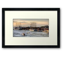 When 4 masts are just not enough Framed Print